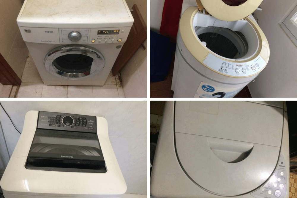 nhận sửa máy giặt với các hãng